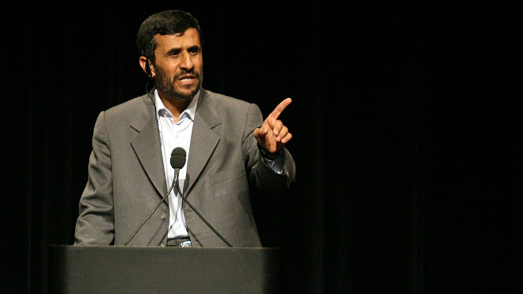 Iranian President Mahmoud Ahmadinejad (photo credit: CC-BY-Daniella Zalcman, Wikimedia Commons)