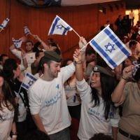 Des jeunes de la Diaspora participent à un événement Birthright Israel à Jérusalem (Crédit : Marc Israel Sellem/Flash90