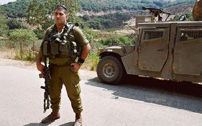 Un soldat de l'unité druze Herev  (Crédit : CC BY kikasso, Flickr)