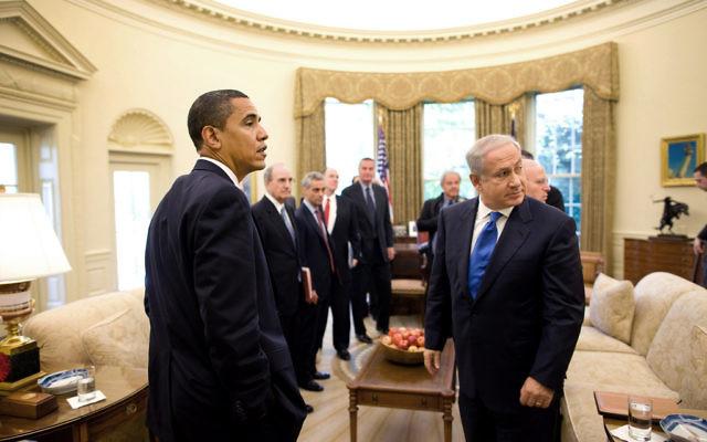 Le président Barack Obama et le Premier ministre Benjamin Netanyahu dans le Bureau ovale en 2009 (Crédit photo: Pete Souza / la Maison Blanche)