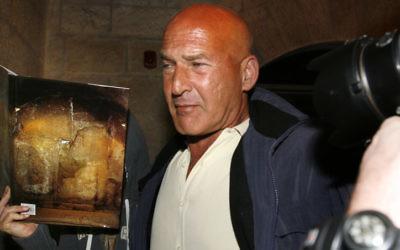 Rafi Refaeli, le père de la mannequin israélienne Bar Refaeli, en 2007. (Crédit : Michal Fattal/Flash90)