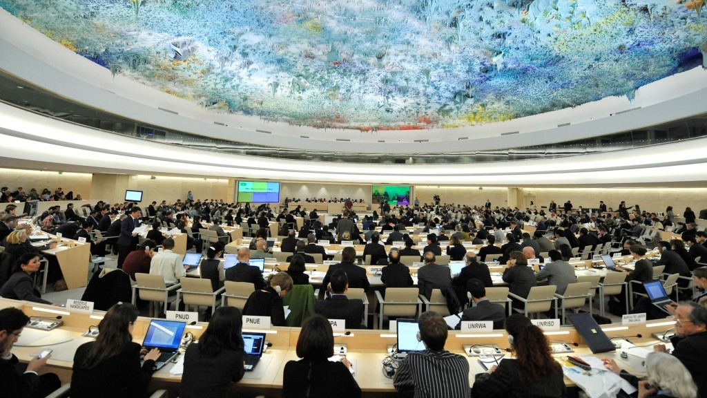 The UN Human Rights Council (photo credit: CC-BY US Mission Geneva, Flickr)