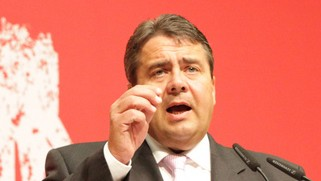 Sigmar Gabriel (photo credit: CC-BY DavidG, Wikipedia )