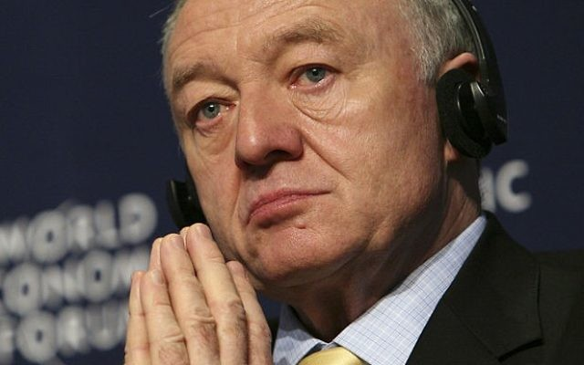 Ken Livingstone à Davos, en 2008. (Crédit : CC-BY-SA World Economic Forum, Wikipedia)