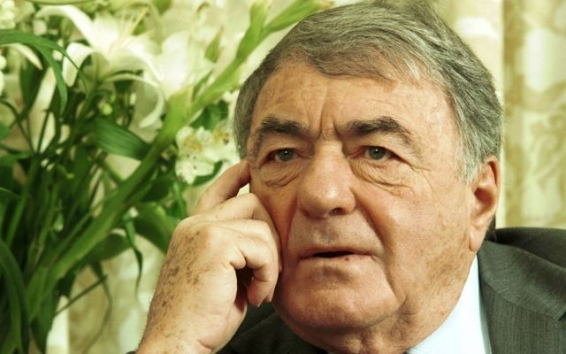 Claude Lanzmann. (Crédit : Flash90)