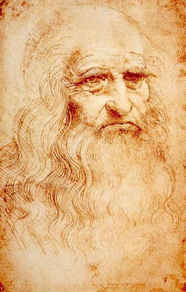 Leonard da Vinci self-portrait (photo credit: Wikimedia Commons)