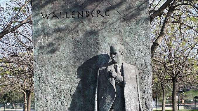 Statue remembering Raoul Wallenberg, who rescued Hungarian Jews from the Holocaust. (photo credit CCBY pandrcutts/ Flickr)