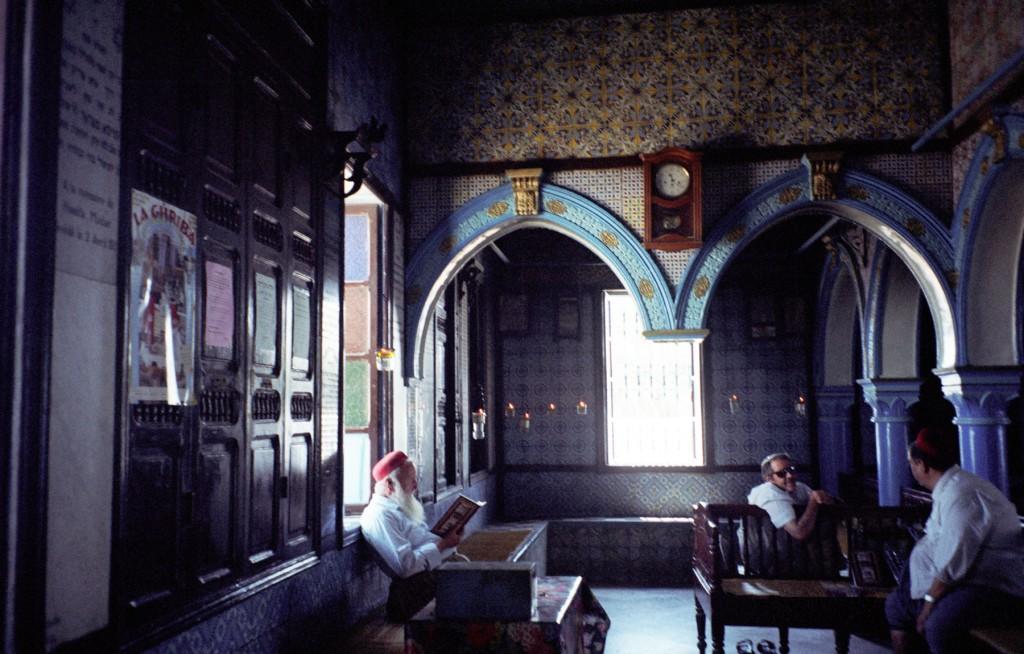 Djerba Jews at the El-Ghriba Synagogue on Tunisia's southern island. (photo credit:upyernoz via CC/JTA)