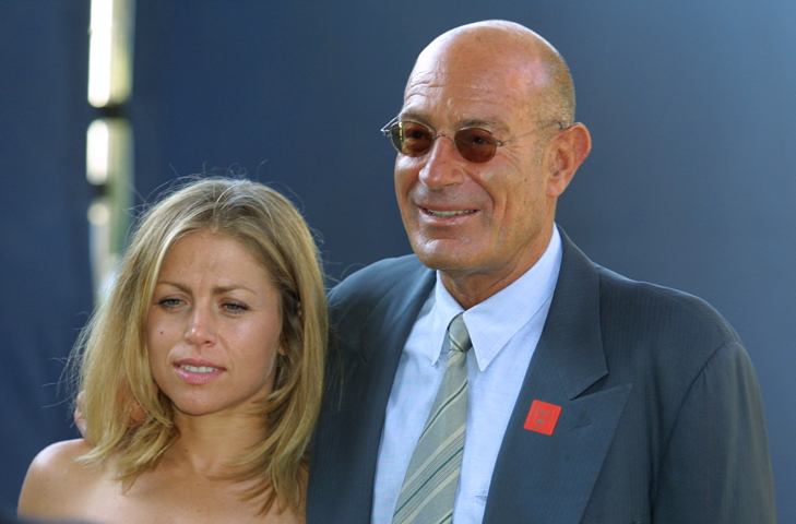 Arnon Milchan and his wife (photo credit:Flash90)