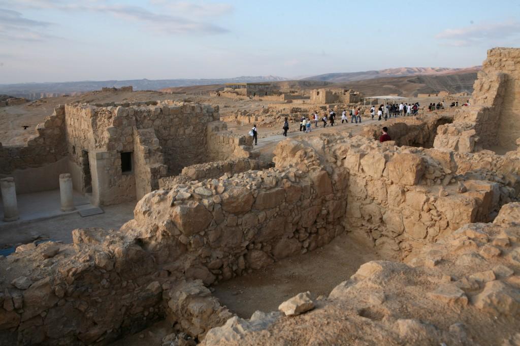 A view of the excavations at Masada (photo credit: Yossi Zamir/Flash90)