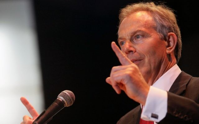 Tony Blair (Crédit : Kobi Gideon/Flash90)