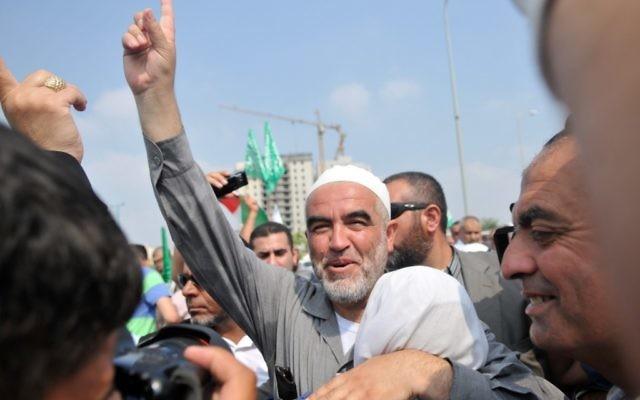 Sheikh Raed Salah, près de Tel Aviv en 2010. (Crédit : Yossi Zeliger/Flash 90)