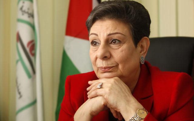 Hanan Ashrawi, membre du comité exécutif de l'Organisation de libération de la Palestine (OLP), en janvier 2012. (Crédit : Miriam Alster/Flash90)