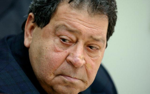 Le député Binyamin (Fouad) Ben Eliezer (Crédit : Flash90)