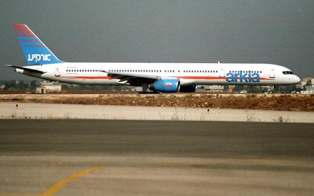 Un avion Arkia sur la ligne Paris-Tel-Aviv (Crédits: Flash90)