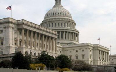 Le bâtiment du Sénat - sur la colline du Capitole à Washington (Crédit : Wikimedia Commons)