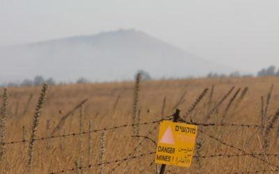 Photo d'illustration d'un champ de mines dans le  nord d'Israël  (Crédit: Yossi Zamir/Flash90)