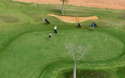 Illustration : terrain de golf à Gaash.  (photo credit: Moshe Shai/Flash 90)