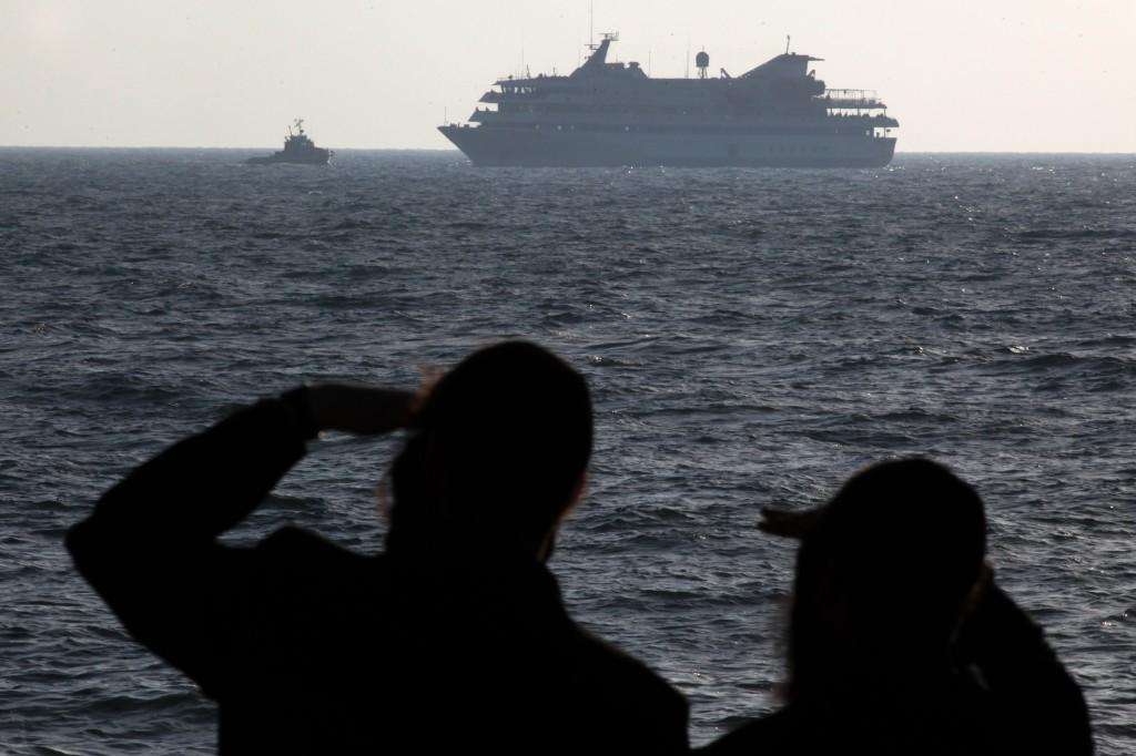 The Mavi Marmara protest ship is escorted to Ashdod port on May 31, 2010 (photo credit: Kobi Gideon/Flash90)