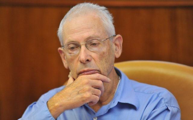 Benny Begin, député du Likud et ancien ministre. (Crédit : Flash90)