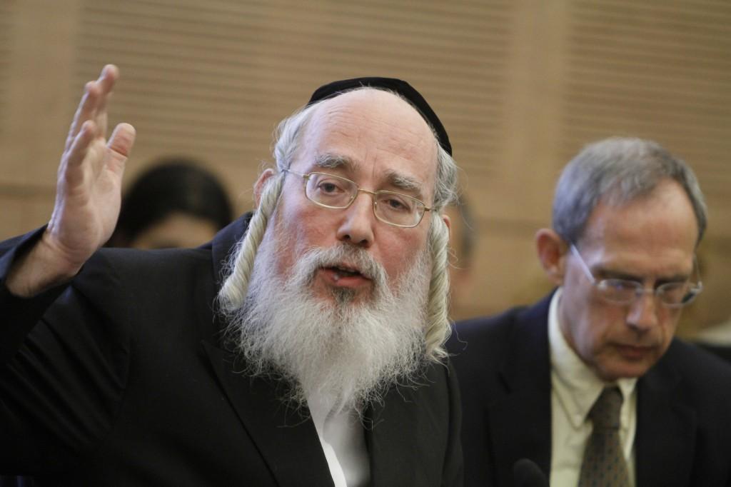 MK Rabbi Yisrael Eichler (photo credit: Miriam Alster/Flash90)