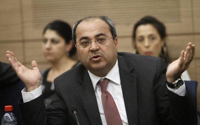 Le député Ahmad Tibi  (Crédit : Miriam Alster/Flash90)