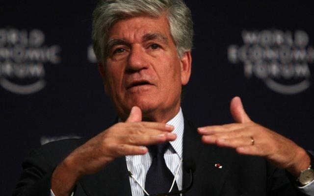 Maurice Lévy au Forum économique mondial en 2008 (Crédit: World Economic Forum/CC-BY-SA, Wikimedia)
