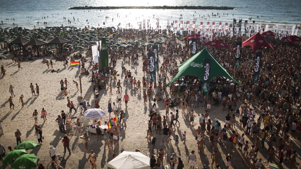 Thousands of people attend annual gay pride festivities in Tel Aviv last month (photo credit: Matanya Tausig/Flash90)