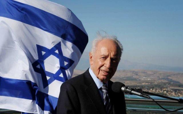 Shimon Peres (Crédit : Moshe Milner/Flash90)