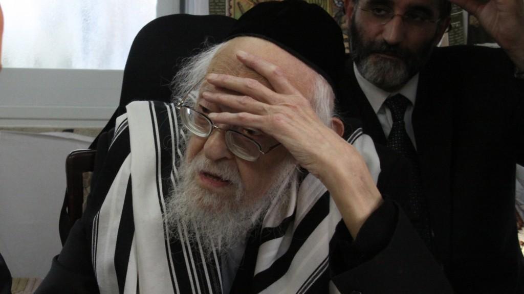 Rabbi Yosef Shalom Elyashiv (Yosef Avi Yair Angel/ Flash90/JTA)