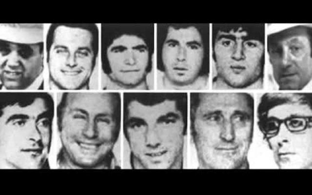 Les onze victimes israéliennes du massacre de Munich, pendant les Jeux olympiques d'été 1972