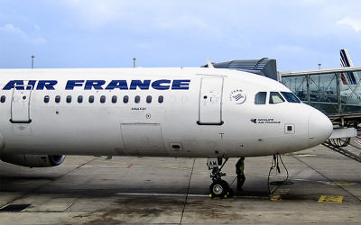 Illustrative photo of an Air France plane. (photo credit: CC BY Andres Rueda, Flickr)