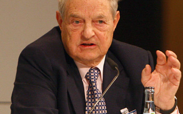 George Soros (photo credit: CC-BY-Harald Dettenborn, Wikimedia Commons)