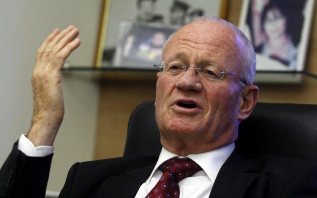 Danny Yatom, ancien directeur du Mossad (Crédit : Olivier Fitoussi/Flash90)