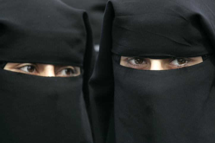 Women wearing burkas. (photo credit: Abed Rahim Khatib/FLASH90)