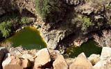 Le cours d'eau Zavitan, dans le plateau du Golan. (Crédit : Phil Sussman/Flash90)