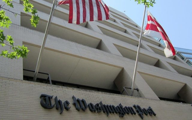 The Washington Post building in Washington, D.C. (photo credit: CC-BY Daniel X. O'Neil/Wikipedia)