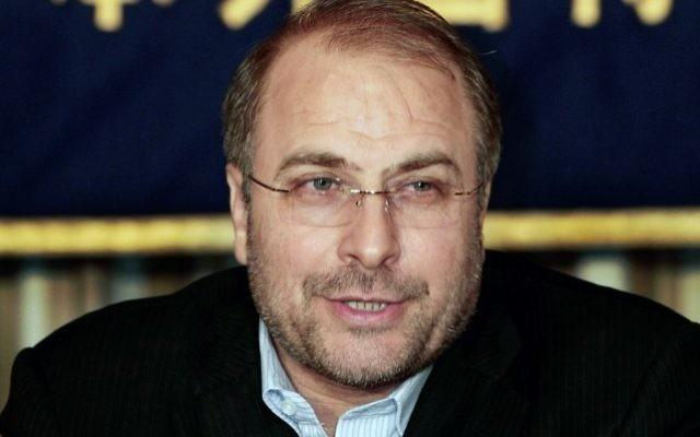 Mohammad-Bagher Ghalibaf, président conservateur de l'Assemblée iranienne et ancien maire de Téhéran. (Crédit : AP Photo/Itsuo Inouye)