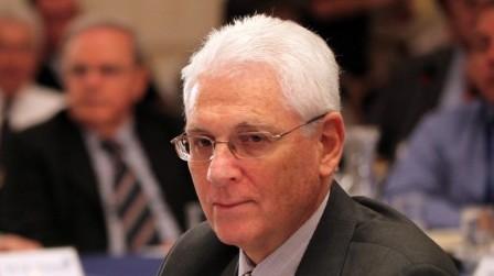 Yitzhak Levanon at an ambassadors' meeting in Jerusalem, December 2010 (photo credit: Yossi Zamir/Flash90)
