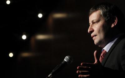 Stas Misezhnikov, ancien ministre du Tourisme du parti Yisrael Beytenu, accusé de corruption. (Crédit : Miriam Alster/Flash90)