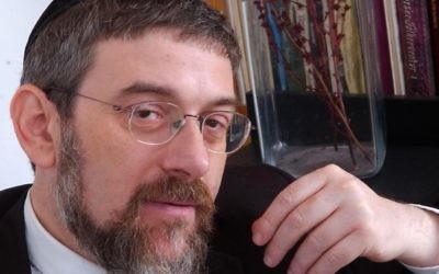 Le rabbin Michael Melchior, ancien ministre des Affaires de la Diaspora. (Crédit : Flash90)