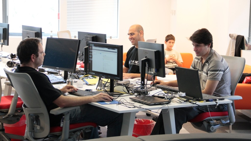 Start-up workers at the Azure accelerator (Photo credit: Courtesy)