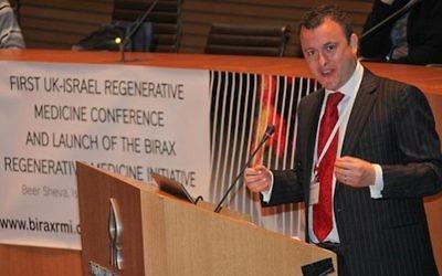 L'ambassadeur britannique en Israël Matthew Gould (Crédit :autorisation UK Embassy)