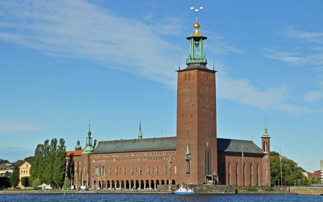 L'Hôtel de ville de Stockholm où sont traditionnellement remis les Prix Nobel lors d'une cérémonie. (Flickr/archer10 Dennis)