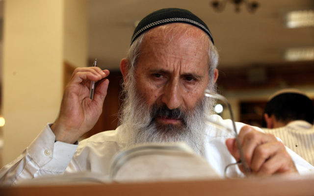 Rabbi Shlomo Aviner, head of the Ateret Cohanim yeshiva in Jerusalem (photo credit: Yossi Zamir/Flash90)