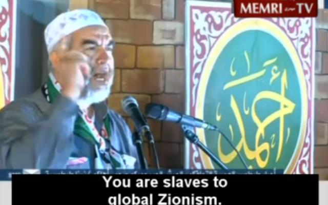 Raed Salah (Crédit : Memri Screen Shot/Al-Jazeera)