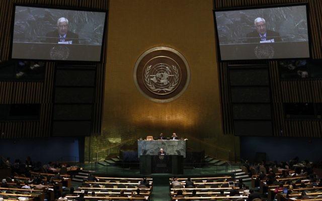 Walid Moallem, le ministre des Affaires étrangères syrien, à l'Assemblé générale des Nations Unies, le 1er octobre 2012 (Crédit : AP Photo/Jason DeCrow)