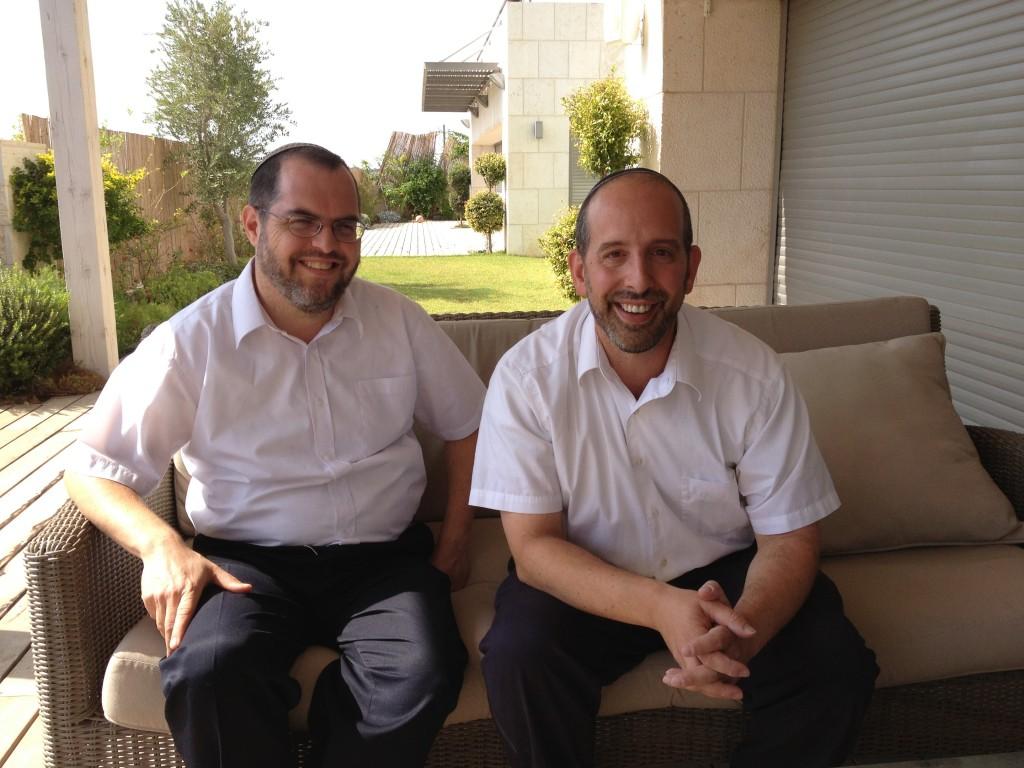 Rabbi Shlomo Sobol (left) and Rabbi David Fine, founders of Barkai (photo credit: Jessica Steinberg/Times of Israel)