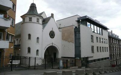 La synagogue de la rue Bergstien, à Oslo. (Crédit : CC BY Metro Centric/Flickr)