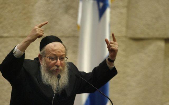 Yaakov Litzman (Crédit : Michal Fattal/Flash90)